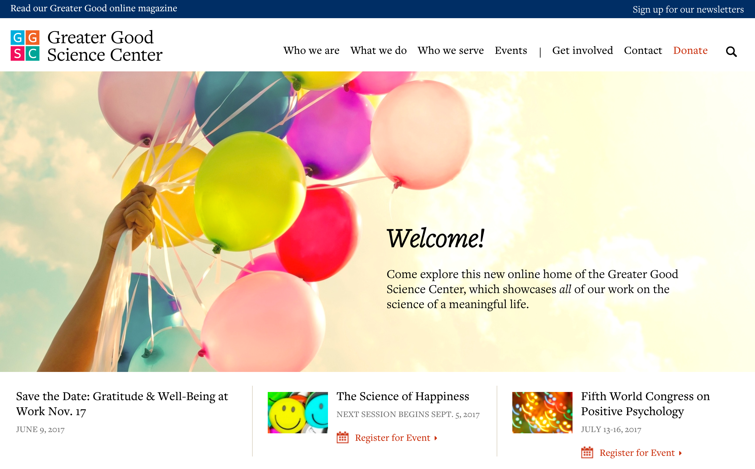 Greater Good Science Center and Greater Good Magazine Websites Now Even Greater