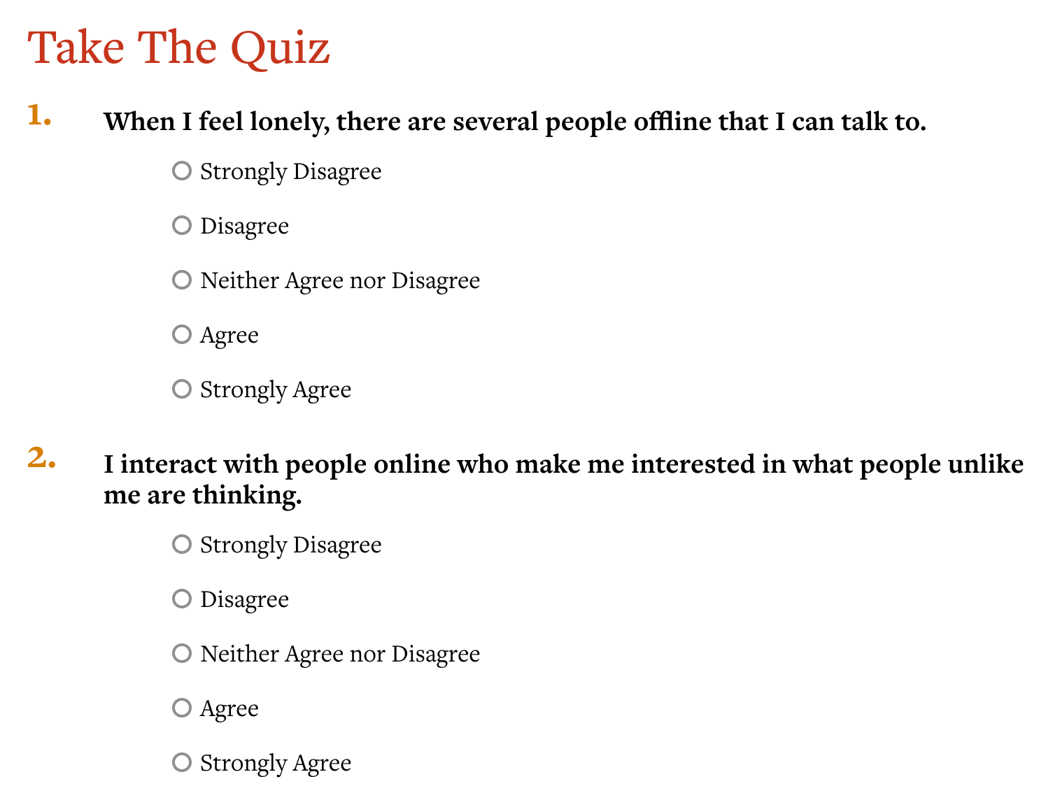 Greater Good Magazine quiz screenshot