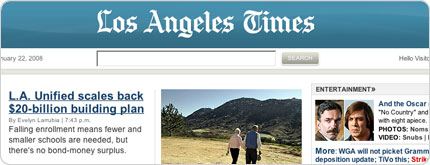 Los Angeles Times Web Site