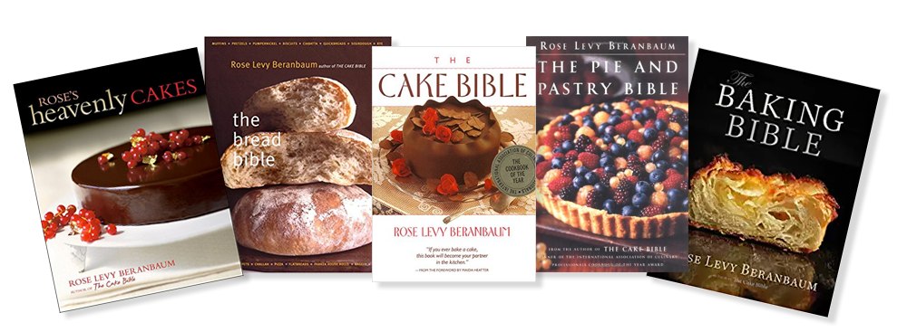 Book covers of Rose's many baking bible cookbooks