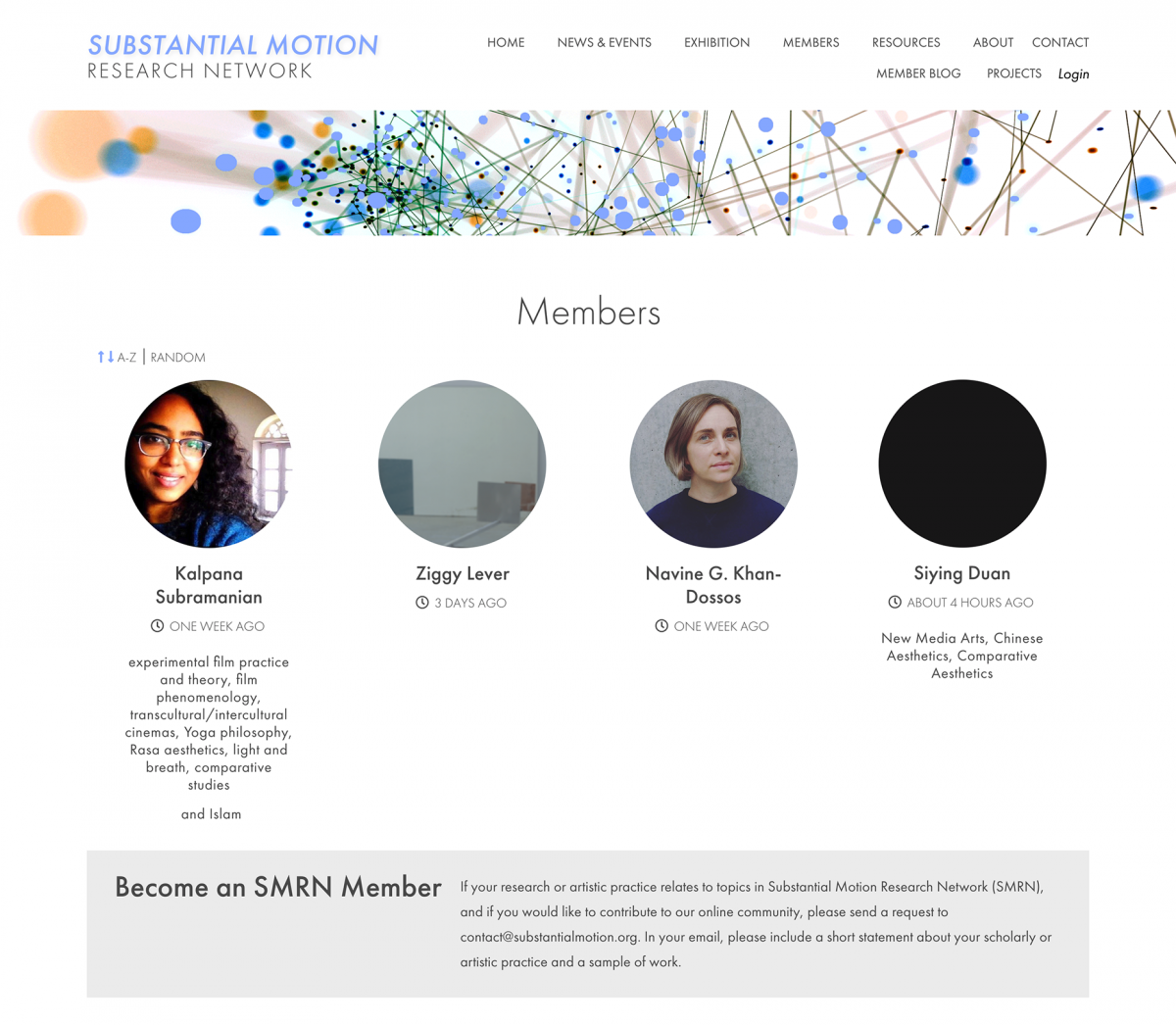 SMRN Member page screenshot