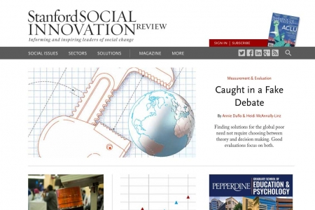 Screenshot of SSIR website home page