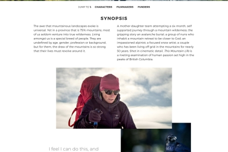 Screenshot of This Mountain Life website home page