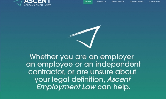 Screenshot of Ascent Employment Law home page