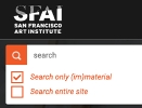 Thumbnail Screenshot of SFAI website (im)material blog search