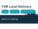 Thumbnail Screenshot of YVR Local Delivery mobile and tablet home page
