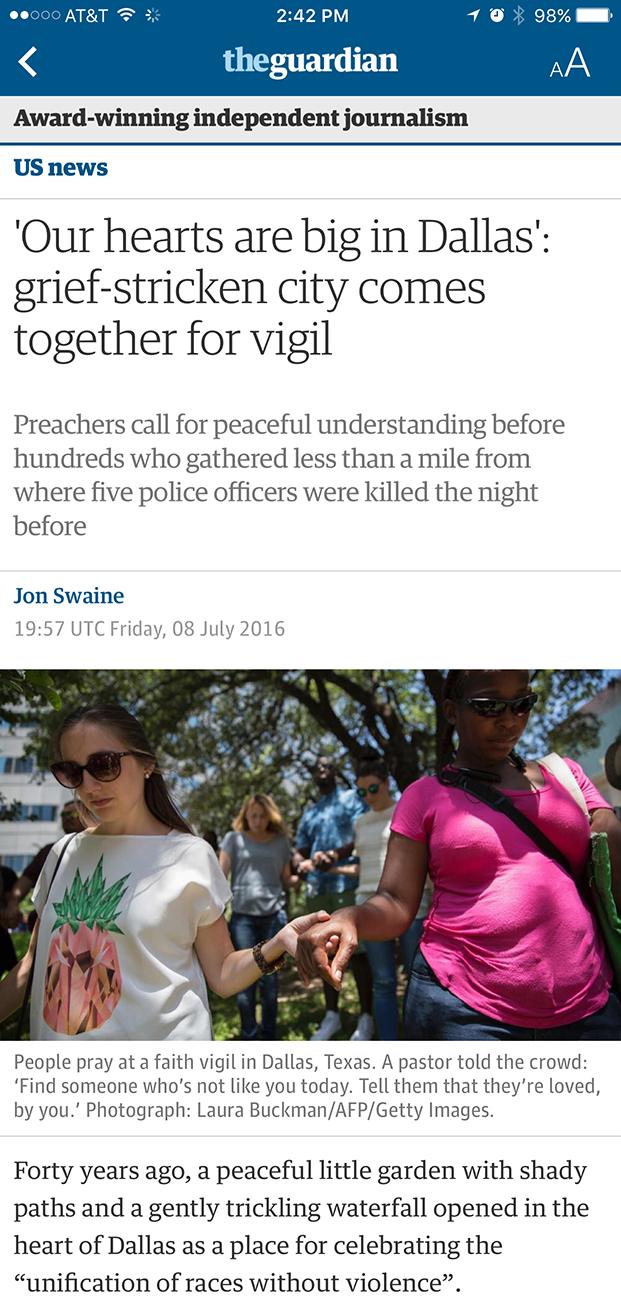 Apple News Guardian Article Screenshot