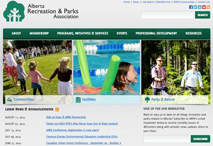 Screenshot of arpaonline.ca