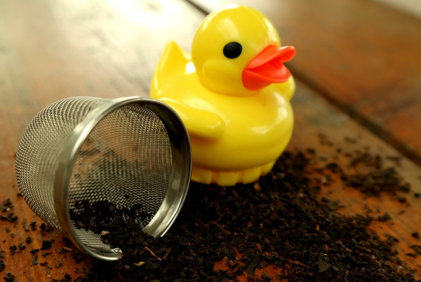 Tea time for duckies