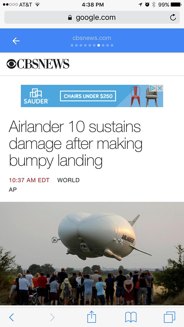 Screenshot of a CBS News AMP article