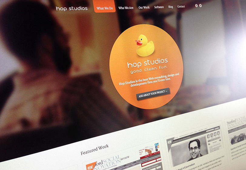 Hop Studios, redesigned.