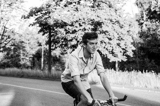Kurtis riding his bike, Monterey