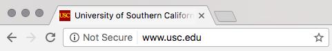 Screenshot of an 'not secure' notification