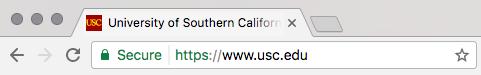 Screenshot of a 'secure' notification